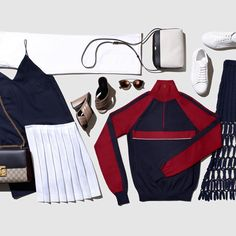 Sporty-chic look inspired by London Fashion Week, pulled together by Net-a-Porter, featuring Flower 13
