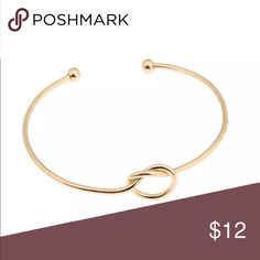 Delicate Gold Love Knot Bangle Bracelet Delicate Gold Tone Love Knot Bangle Bracelet Jewelry Bracelets