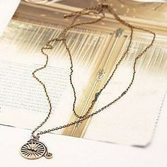 USD $ 4.99 - Coppery Plated Bubble Bicycle Shaped Alloy Necklace, Free Shipping On All Gadgets!