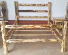Montana Lodge rustic log bed