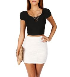crop top outfits | Crop Tops with High-Waisted Skirts | The Fashion Foot