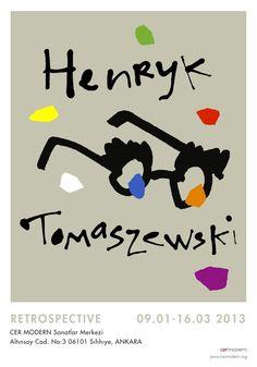 Henryk Tomaszewski Exibition Poster by Mine Oktay, via Behance