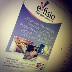 Folder para empresa E-fisio em 2012 - www.efisiodomiciliar.com.br