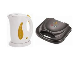 Chef Pro Combo Pack - 0.6-Litre Electric Kettle With Sandwich Maker.