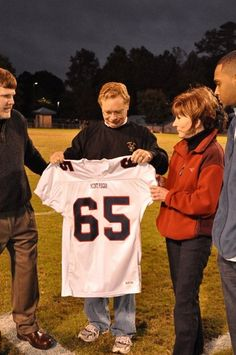 At ceremonies held during 2009 Homecoming, Mount Pisgah Christian School retired Jeff's jersey and presented it to his parents - No parent should EVER have to go through the torture of losing their child to this wretched disease. Join us in the fight to find a cure for leukemia and blood cancers. jeffreysvoice.org - Together We WILL #cureleukemia