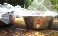 Cat Feeder  Pet Feeder  stainless steel 1/2 Pint by WoodyToolWorks, $1.80