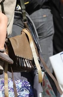 Alessandra Ambrosio wearing Isabel Marant Bag.