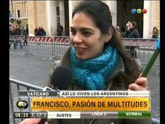 Los argentinos en Roma después del ángelus - Telefe Noticias