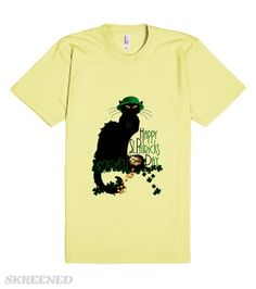 #StPatricksDay - Le Chat Noir Tee by #SpoofingTheArts at #Skreened #Gravityx9 -