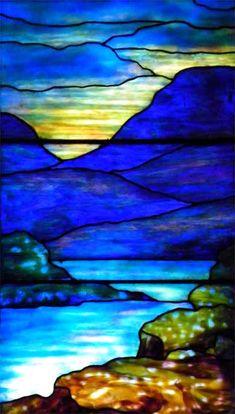 West nave windows - Baker Memorial United Methodist Church 345 Main St, East Aurora, NY I lift mine eyes Tiffany window segment
