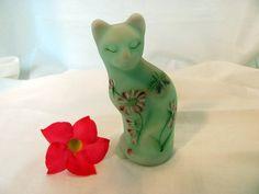 Fenton Burmese Cat Kitty Hand Painted Artist by VintageLoversShop