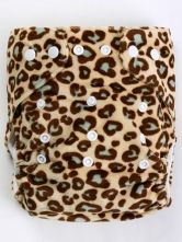 Leopard cloth diaper! - Another reason I love cloth diapering, I don't have to deal with boring diapers. Nothing but bright fun colors/patterns on my baby girl's butt! ;)
