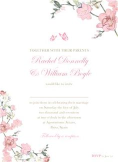 The most beautiful and unique wedding invitations, RSVP cards, and other wedding stationery available in Ireland, the UK and worldwide. Pink Invitations, Unique Wedding Invitations, Invitation Suite, Invitation Design, Wedding Stationery, Invites, Couples In Love, Spring Wedding, Pink And Gold
