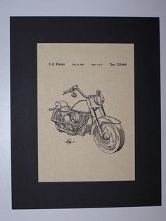 Harley MC 1993 Patent Drawing Motorcycle Harley Davidson