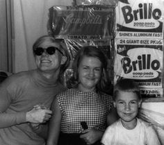 Andy Warhol has his first sculpture show,Brillo Boxes at the Stable Gallery spring 1964 NYC