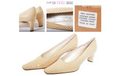 Italian shoes Elegant Classic Style Shoes/ High heals, pumps Vintage  Size: 40 by SixVintageChicks on Etsy