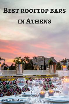 The best rooftop bars in Athens Greece. Enjoy the best views of the city! (scheduled via http://www.tailwindapp.com?utm_source=pinterest&utm_medium=twpin&utm_content=post103153565&utm_campaign=scheduler_attribution)