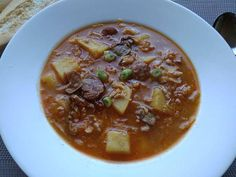Cheeseburger Chowder, Chili, Food And Drink, Soup, Chile, Soups, Chilis
