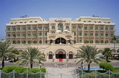 The Grand Hyatt in Muscat, Oman. My townhouse was located right in front of the iron gate in the foreground. 100 yards from my front door to the Safari Pub at the Grand Hyatt.