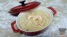 Molho Cremoso de Camarão e Shiitake   Shirimp and Shiitake creamy sauce