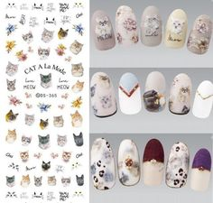 DS310 Water Transfer Nails Art Sticker Harajuku Elements Colorful Fantacy blurred Flowers Nail Wraps Sticker Manicura Decal