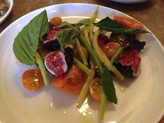Heirloom Tomatoes with Melon and Basil   Yelp