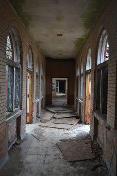 Abandoned Manteno State Hospital in Illinois.