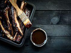 Zoete St. Louis-cut spareribs waar het vlees zo van je bot afvalt Ribs, St Louis, Steak, French Toast, Breakfast, Steaks, Rib Roast, Prime Rib, Morning Breakfast