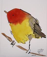 from Watercolor Birds by Richard McKey, Fondren Art Gallery, Jackson, MS… Watercolor Bird, Watercolor Animals, Watercolour Painting, Bird Drawings, Cute Drawings, Art Plastique, Bird Art, Beautiful Birds, Painting Inspiration