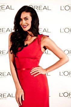 Megan Gale for L'Oréal Paris, the company's first Australian spokeswoman.