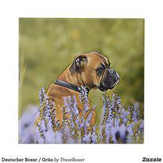 Deutscher Boxer / Grün Fliese Dogs, Animals, Tiles, Pet Dogs, Animales, Animaux, Doggies, Animal, Dog