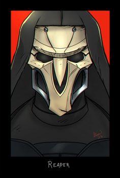 Fear the Reaper.  Overwatch portrait series in progress here.     Tracer | Winston | Lúcio | D.Va | Bastion | Hanzo| Mercy