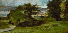 John Constable -Landscape with cottages,1809-1810. huile sur toile Chicago Art Institute