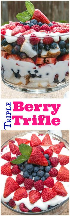 Oh thank heaven for Triple Berry Trifle!