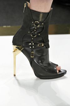 These are so HOT!!!  I would love to go out dancing with my husband:  little black shorts, silk sheer top with black lace camisole, and these sexy hot Herve Leger's Harness Boots!