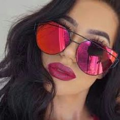 Chic Sunglasses Super chic red lens black frame sunglasses... If u need another pic with better lightning i will take..but these are red super chic super cute.. Accessories Sunglasses