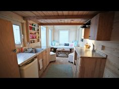 Beautiful 24 Foot Tiny House Tour with Free Plans: Ana White Tiny House Build [Episode 18] - YouTube  Beautifully designed, plenty of DIY love put into this stunningly efficient tiny home.