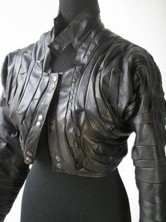 BLACK LEATHER JACKET by STEFANEC on Etsy, $250.00