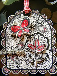 Zentangle tag @ Little Sunday's Place! from party 109