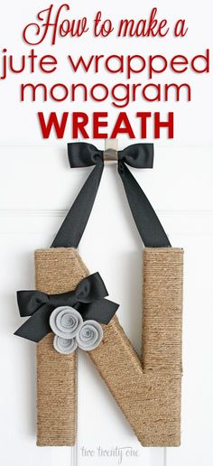 PERFECT year-round DIY monogram wreath!