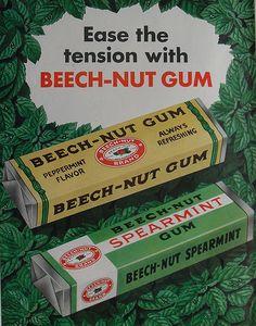 1950s BEECH NUT GUM vintage illustration advertisement by Christian Montone, via Flickr