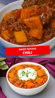 Sweet Potato Chili, Cube Steak Recipes, Chili Recipes, Healthy Chili, Meal Prep Guide, Cooking Recipes, Healthy Recipes, Cocktails, Dining
