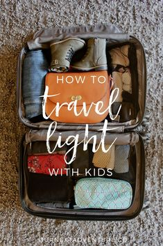 to Travel Light with Kids 10 tips to help you travel light, even with kids. Travel with Kids. Travel tips to help you travel light, even with kids. Travel with Kids. Travel Tips. Travel Tips With Baby, Traveling With Baby, Packing Tips For Travel, Travel With Kids, Family Travel, Packing Cubes, Travel Hacks, Travel Ideas, College Packing