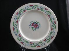 """Vintage Lenox China Monterey Pattern 0-301 10 1/2"""" Gold Trim Dinner Plate by RuthiesCollectables on Etsy"""