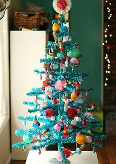14 Best Turquoise Christmas Decorations Images Christmas Trees