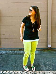 Lime Jeans, Black T-Shirt - North Carolina Fashion Blogger - still being [molly]