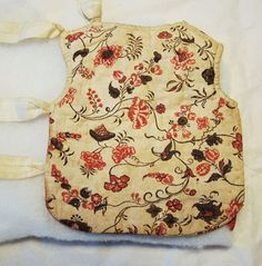 The lining of a small waistcoat was worn as a christening garment at a baptism in 1761. Newsletter no. 2-2009
