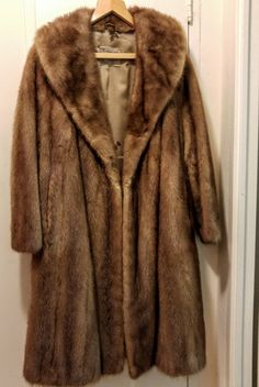16P FULL MINK COAT Real Fur Vintage Excellent brown Nova Scotia  Canada Retro Wide Hip Womens by ValsValueVintage on Etsy