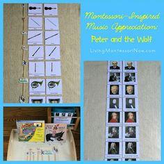 Montessori-Inspired Music Appreciation - Peter and the Wolf - homeschool music unit ideas Montessori Education, Montessori Activities, Homeschool Kindergarten, Montessori Materials, Toddler Activities, Homeschooling, Movement Activities, Music Activities, Preschool Music