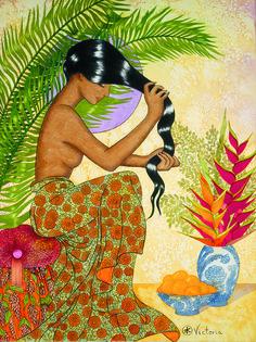 Hawaiian Goddess by victoria holman art Polynesian Art, Polynesian Culture, Chicano, Illustrations, Illustration Art, Hawaiian Goddess, Surf Hair, Hawaiian Art, Hawaiian Woman